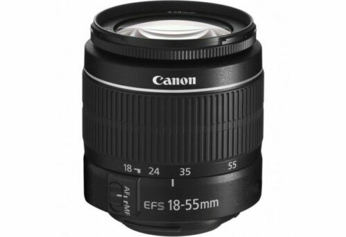 Canon EF-S 18-55mm f/3.5-5.6 III Standard Zoom Lens - (White Box)