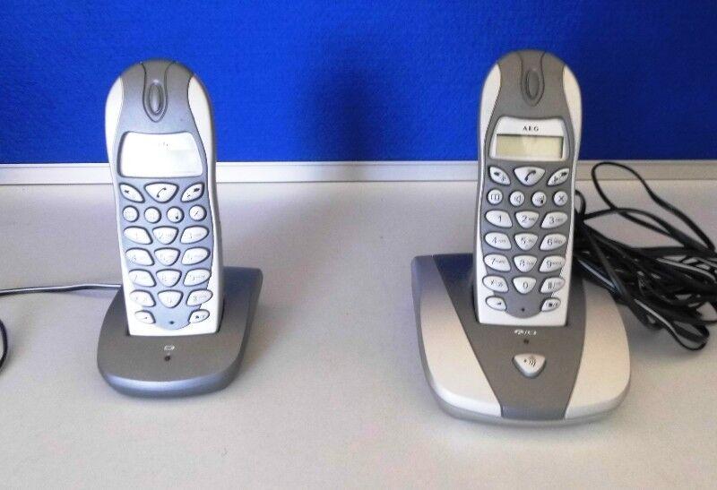 AEG D 5500 Twin Set Telefon schnurlos digital LCD