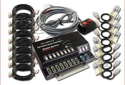 160W 8 HID Bulbs Hide A Way Emergency Hazard Warning Strobe Light System Kit