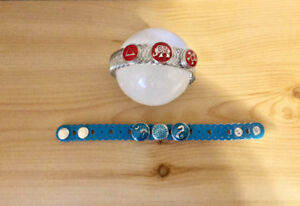 2 Snap Button - Ginger Snap Bracelets and 6 Snaps