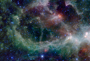 Heart Nebula in Cassiopeia Constellation Space Poster - 36x24