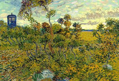 Vincent Van Gogh Tardis at Montmajour Poster Print, 19x13