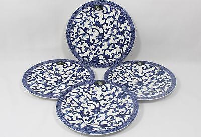 Ralph Lauren Mandarin Blue Porcelain China Salad Plates Set of Four (4) New