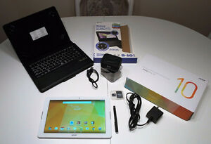 "REDUCED AGAIN ACER Iconia One10 10"" tab. w/acc. RARELY USED $250"