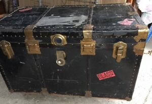 Various Antique Trunks