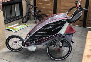 Chariot CX1 avec frein, suspension ajustable pour marche et velo
