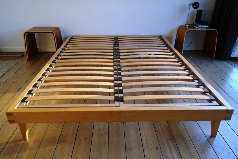 Beautiful Matthew Hilton designer bed frame, king size natural oak