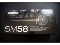 Unused Shure SM58 for sale - £60