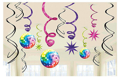 Boogie Disco Fever 70s Swirl Decorations Birthday Party Supplies Favors ~12ct. (70s Disco Decorations)