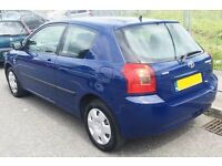 2004 Toyota Corolla 1.4 Owned 10 Year Cheap Long Mot Cheap Insurance Px corsa yaris golf astra