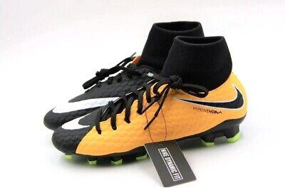 e75006bf9 NEW Nike HyperVenom Phelon 3 DF FG Black Soccer Cleats Mens Size SZ 917764  001 Shoes ...