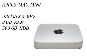 MAC MINI Intel i5 2.3 GHZ , 8GB 500GB,