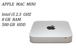 MAC MINI Intel i5 2.3 GHZ , 8GB 500GB+ Mc Office Pro, FINAL CUT PRO X, LOGIC PRO X, MASTER SUITE DE ADOBE CS6