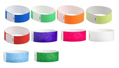Tyvek Event Wristbands - 50 Assorted Tyvek 1
