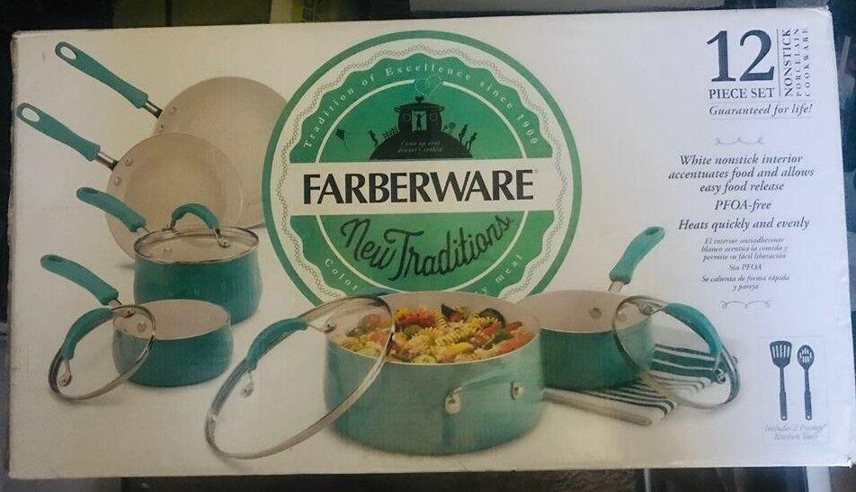 Farberware PURECOOK Ceramic Nonstick Cookware 12 Piece Cookw
