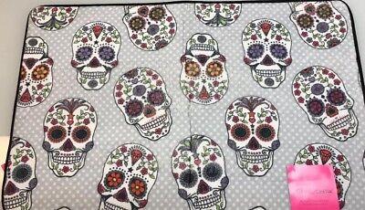 Betsey Johnson Sugar Skull Dia De Los Muertos Bath Mat Rug Halloween Memory Foam