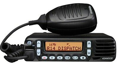 Kenwood Tk-8180 Uhf 450-520 Mhz 30 Watts Two-way Mobile Radio Mic And Bracket