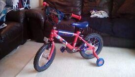 kids spiderman bike (14inch wheel 3-5 years old)