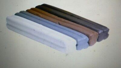School Smart Non-Toxic Modeling Clay Set, 1 lb, Earthtone Colors, Set of 4
