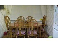 Farmhouse Solid Oak Table & Chairs
