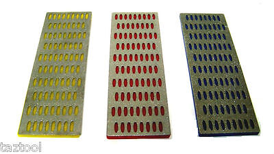 3 Large Diamond Sharpening Stone Hone Whetstone Block Kitchen Knife -