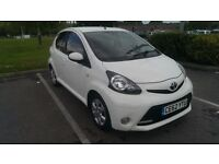 2012/62 Toyota Aygo Fire, White, 5 door, FREE road tax, 36k, 1 owner, Full Toyota Service History
