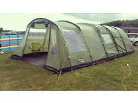 Vango athena 600 tent, extention, footprints and carpet