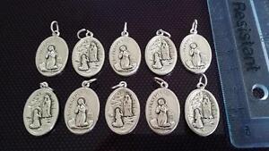 10x St Bernadette charms Catholic Saint charm Vatican City medal medallion Italy