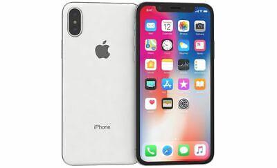 "Apple iPhone X 5.8"" 64GB Fully Unlocked SILVER 3D078LL/A"