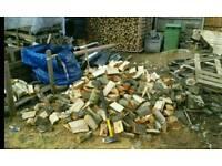 Seasoned hardwood logs and kindling