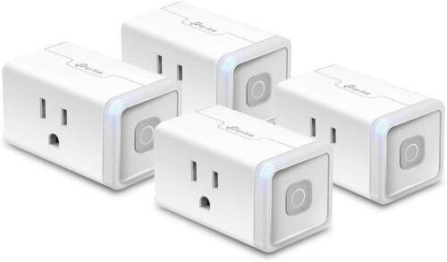TP-Link 4-Pack Kasa Wi-Fi Plug works w/ Alexa & Google Assistant (HS103P4)