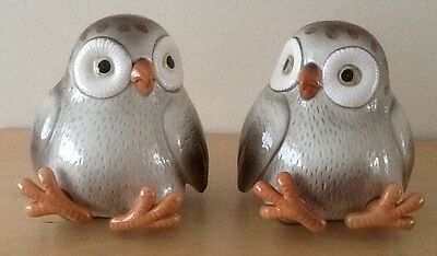 vintage Fun cute 1978 Fitz and Floyd spotted owl bookends or ornaments Japanese