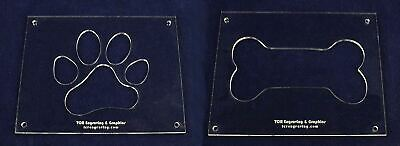 EXTRA Large Dog Bone - Paw Print Templates - 2 Pieces of 1/4