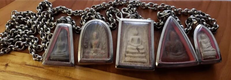 5 Buddhist Temple Amulets from Thailand--Click to View Full Ebay Store Selection