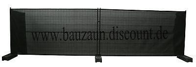 10 Bauzaunnetz Bauzaun Sichtschutznetz Bauzaunplane Zaunblende Mobilzaun schwarz