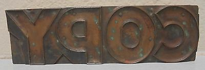 Vintage Copy Letterpress Printing Block Metal Wood Copper