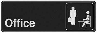 Hillman 841754 3 X 9 Plastic Symbol Office Sign Blackwhite