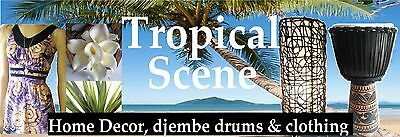 Tropical Scene Home Decor Djembes