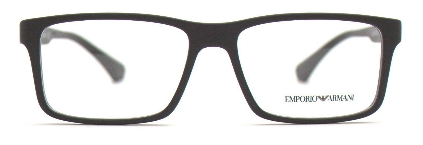 Emporio Armani Herren Brillenfassung EA3038 5063 54mm schwarz matt BO12 5 B