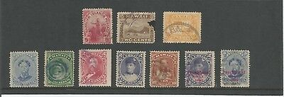 Hawaii / Hawaiian Islands  1893 Provisional Government Overprint etc. Stamp x 10