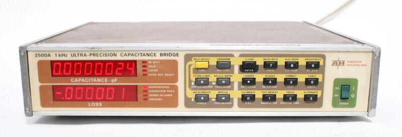 Andeen-Hagerling AH 2500A 1kHz Ultra-Precision Capacitance / Loss Bridge
