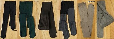 HUE Dense solid black/gray/green/beige or brown opaque tights, size (Green Tights)
