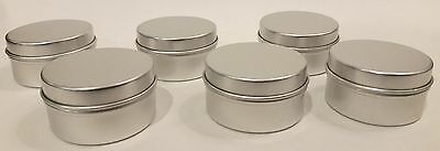 Aluminum Tins ( Empty Silver Aluminum Cosmetic Pots Lip Balm Container SLIP Tins 20ml lip)