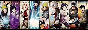 Naruto Shippuden Japan Anime all characters Art Silk Wall  Poster 35x12
