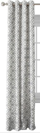 Elrene Crackle Grommet-Top Curtain Panel Light Gray  52 X 84