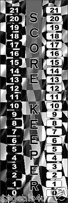 custom racing flag aluminum cornhole scoreboard score