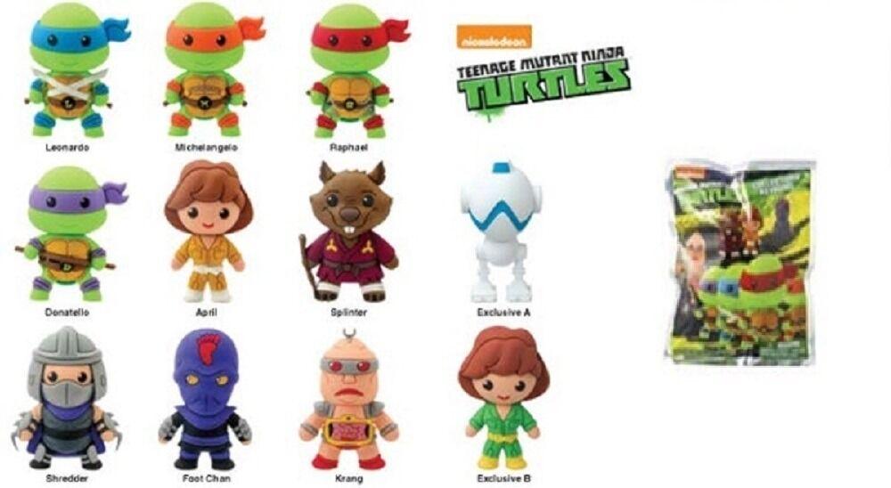 """TMNT keychains U Pick kidrobot Teenage Mutant Ninja Turtles 1.5/"""" Keychain  New"""