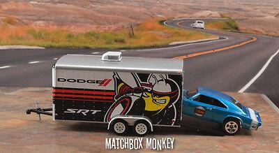 Dodge SRT Super Bee Hellcat Car Hauler 2 Axle Trailer Diorama 1969 Charger 500