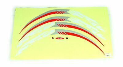 FSA Dekorsatz Felge RD-488 Carbon silber rot