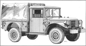 1952 Dodge M37 3/4-ton Power Wagon Military Truck Parts